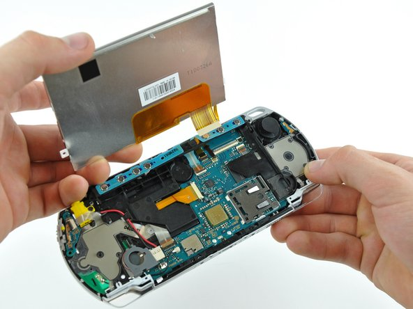 Remove the LCD from the PSP 300xc.
