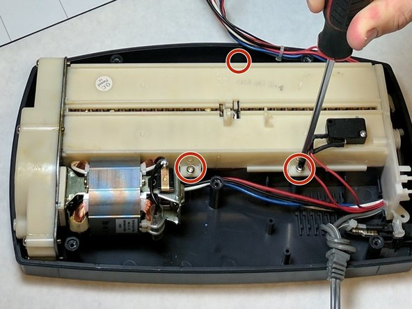 Remove the blade housing from the external case.