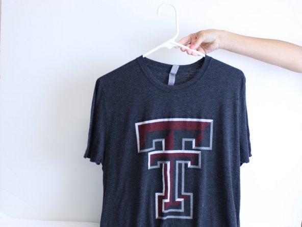 Hang the shirt to air dry.
