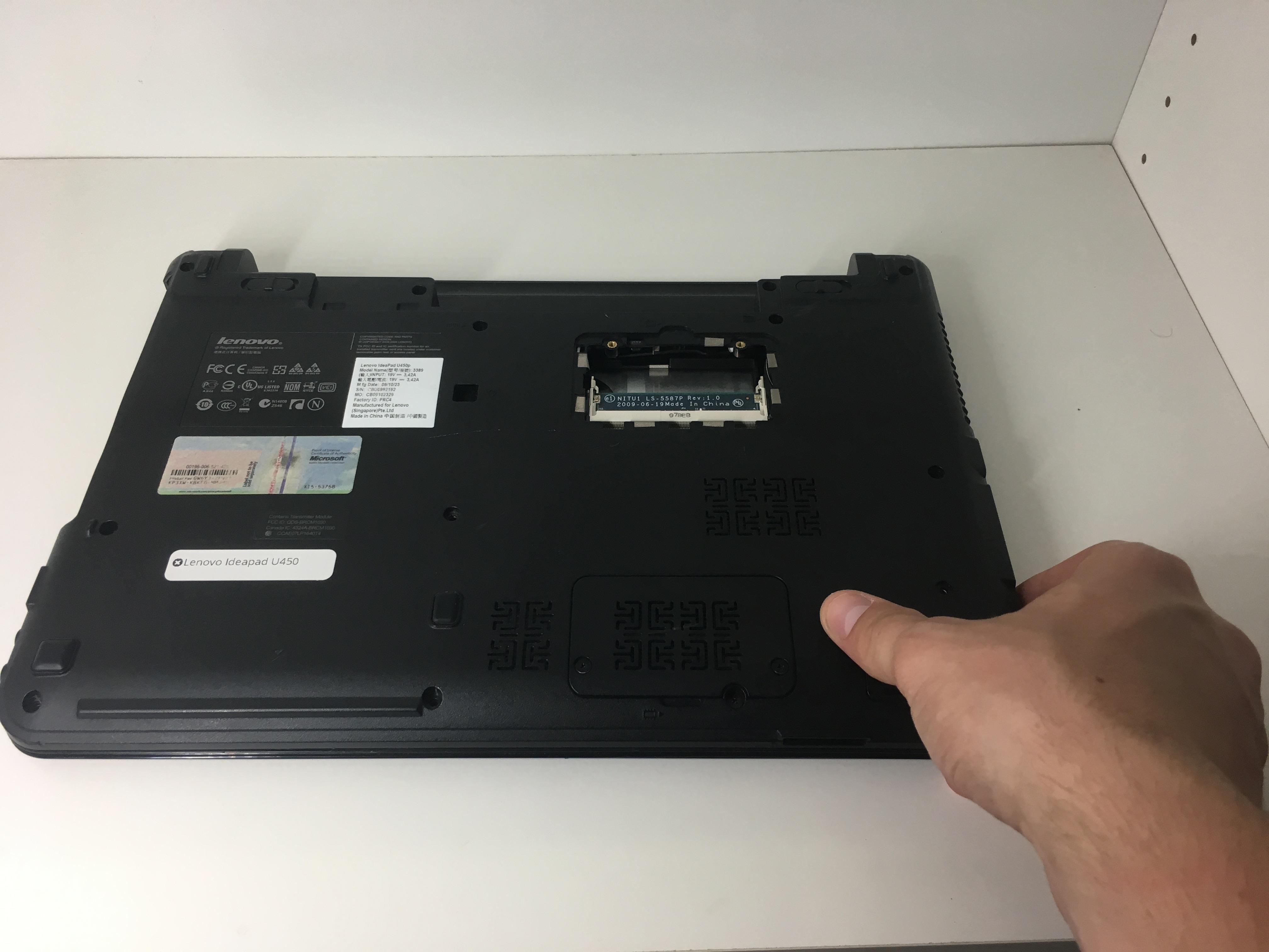 Lenovo IdeaPad U450 Battery Removal - iFixit Repair Guide