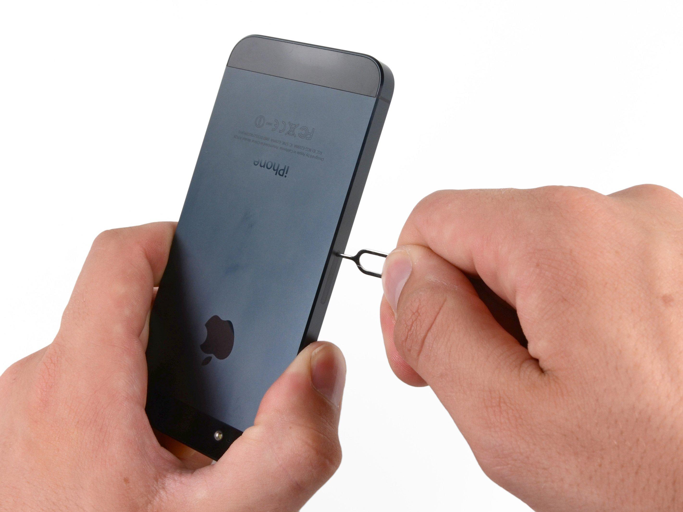 Iphone Sim Karte.Iphone 5 Sim Card Replacement Ifixit Repair Guide