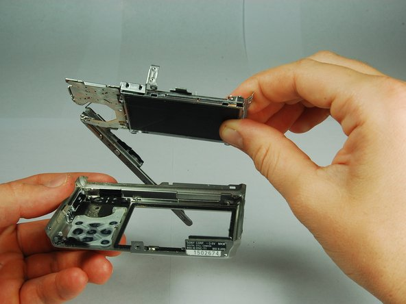 Remove the back frame from the LCD assembly.