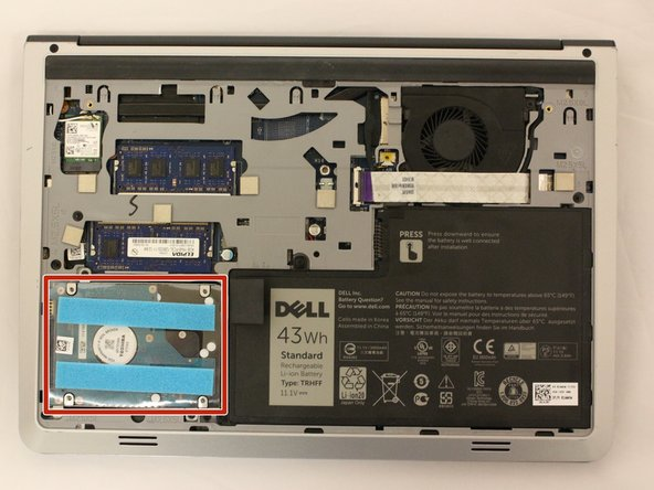 Locate the Toshiba hard drive.