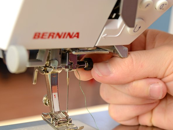Insert a ballpoint needle into your sewing machine.