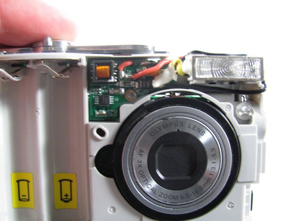 Removing Olympus FE-210 Flash Assembly
