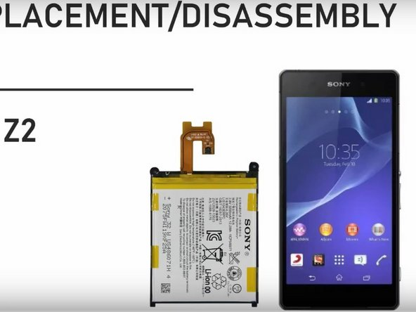 Sony Xperia Z2 Back cover and battery Replacement