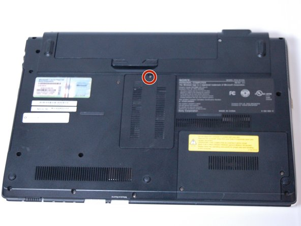 Using a Phillips #0 screwdriver, remove the one screw (Length: 7.7 mm) that is covering the RAM.