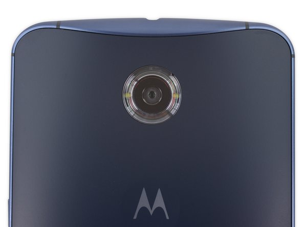 The Nexus 6 has a central rear-facing camera that looks like it might have some interesting flash action hidden alongside.