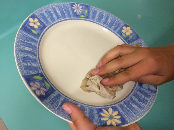When you have dried the plate completely, your plate is done and ready for use.