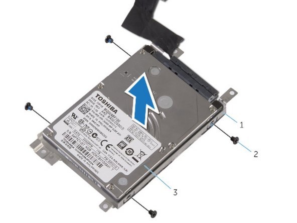 Align the screw holes on the hard-drive bracket with the screw holes on the hard-drive assembly.