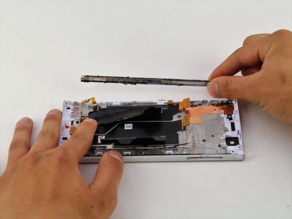 Pull your hands away from the device to remove the side panel.