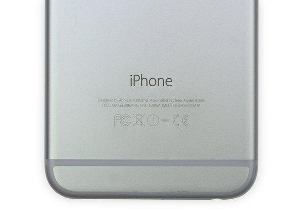 Apple ha deciso di denominare Model A1586 questo particolare iPhone 6.