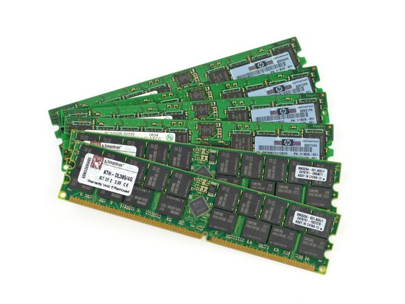 Although there are a total of 8 RAM slots in the server blade, this model only fills six of them.