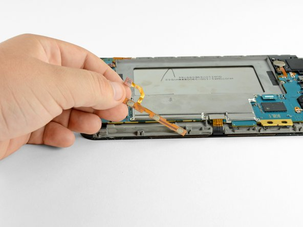 Remove the volume buttons assembly away from the Galaxy Tab.