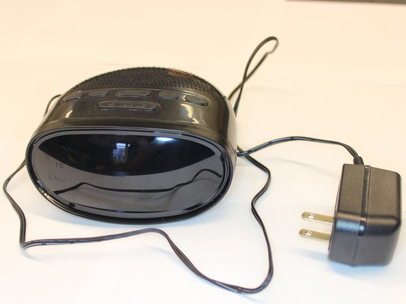 Fully assembled RC2012 alarm clock radio.