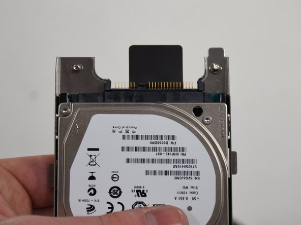 Now take off the SATA converter and then connect it to the drive you would like to replace it with.
