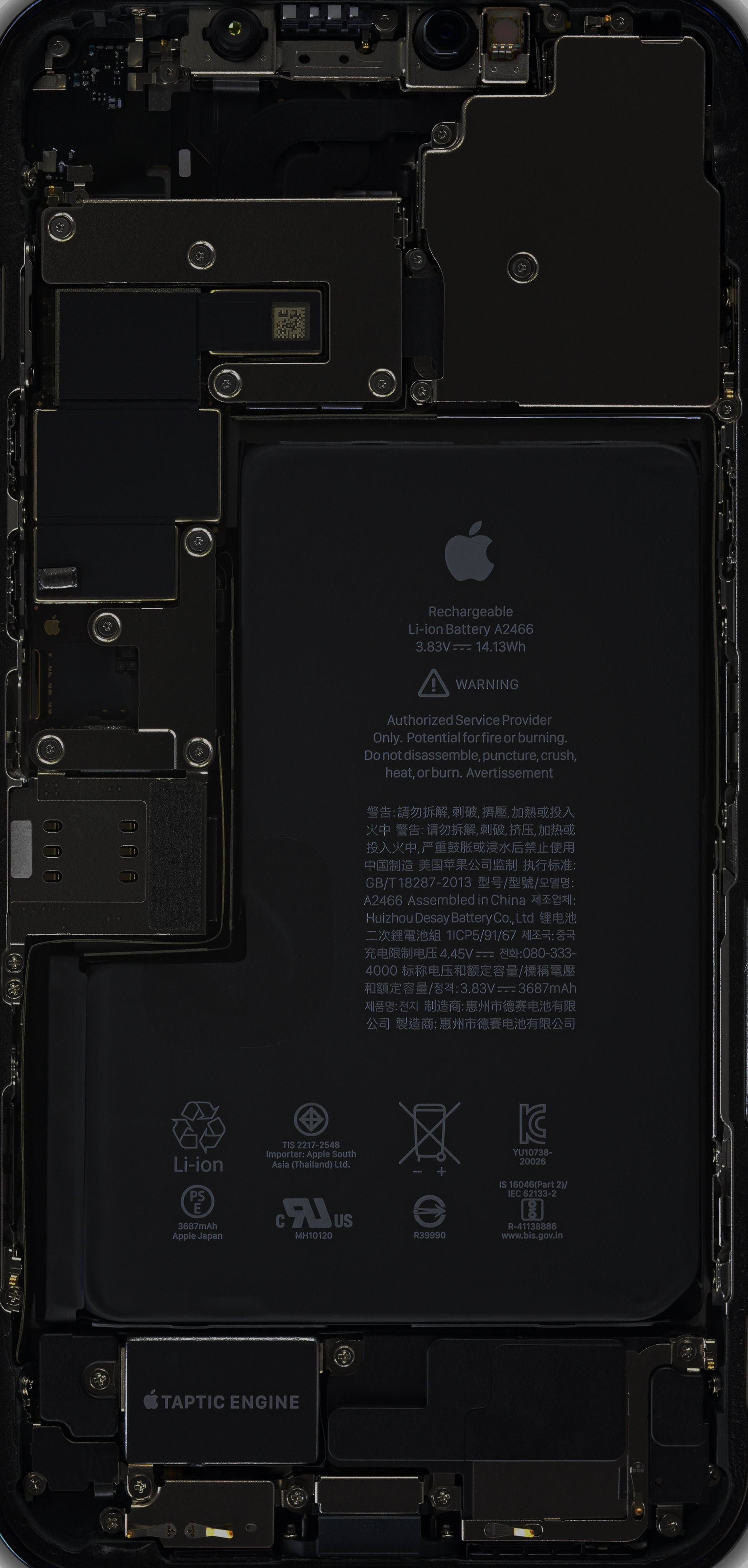 Teardown Wallpapers Iphone 12 Mini And Iphone 12 Pro Max Ifixit
