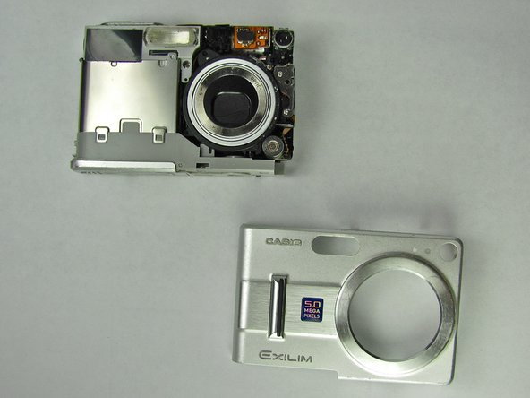 Separate the front case from the body of the camera.
