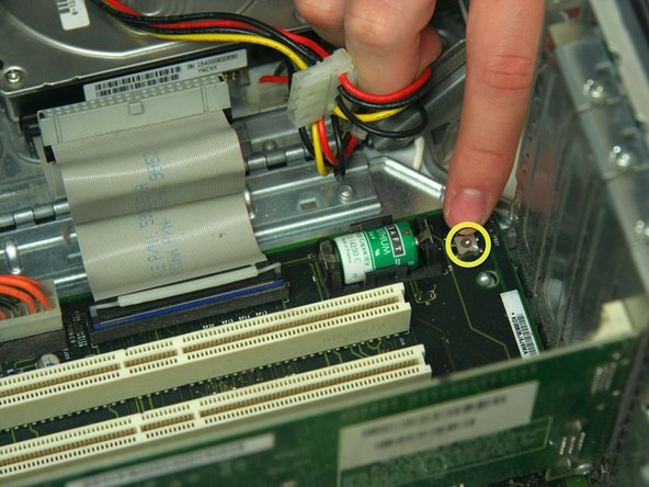 Image 2/2: Push the PMU button once, and only once, to reset the power supply.
