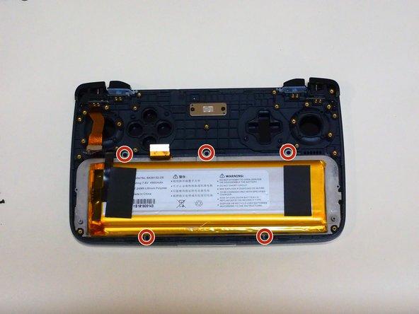 バッテリーは両面テープでついているので、はがすのが難しいです。今回は外さないでおきます