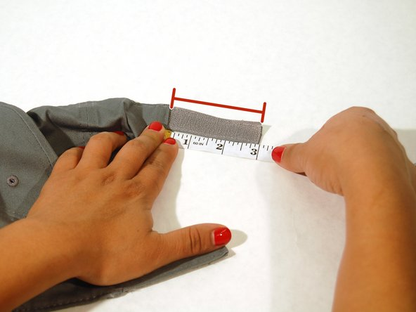 Use a measuring tape to measure how much velcro you will need.