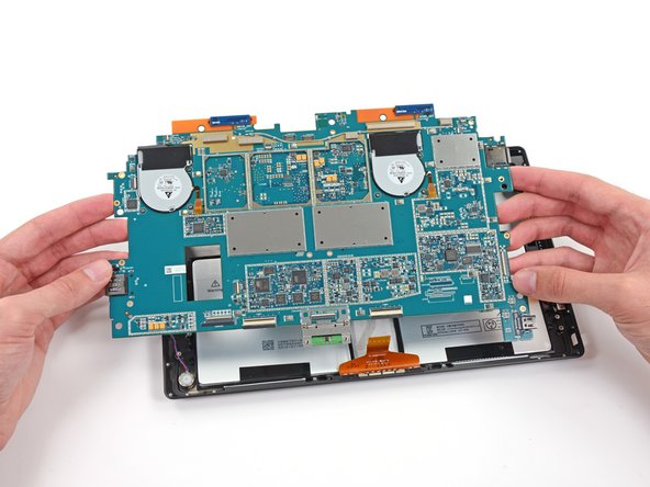 Image 1/3: Changes to the cooling methods from the original Surface Pro are strictly software-based: the fans [http://d3nevzfk7ii3be.cloudfront.net/igi/YPfYKFtlInVkIYW6.large|remain the same], but [http://www.anandtech.com/show/7440/microsoft-surface-pro-2-review|run less frequently|new_window=true] to minimize power usage.