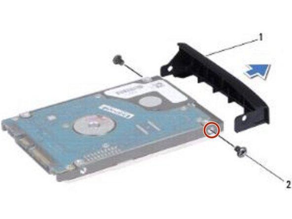Align the screw holes on the hard drive bezel with the holes on the hard drive.