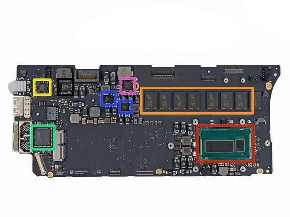 Image 1/2: Here it comes, the component we've all been waiting for: the logic board! Here's what we've got for ICs: