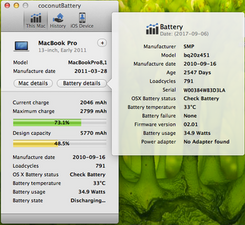 Battery not charging  MagSafe will not power laptop  Only green