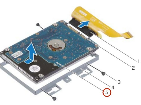 Connect the interposer to the secondary hard-drive connector.