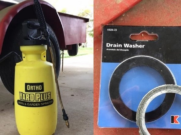 Ortho yard and garden sprayer Main gasket Replacement
