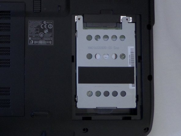 Lift the hard-drive cover in the bottom right corner off the laptop.