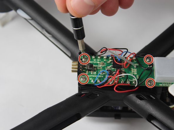 Remove the four screws, and unsolder all cords on the circuit board.