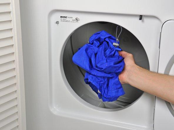 防水ジャケットの乾燥方法