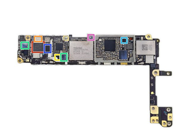 More ICs on the back of the logic board:
