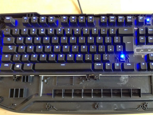 Image 2/2: success! everything is working and you can now go ahead and close up your keyboard, you are finished