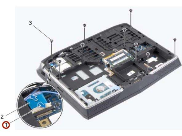 Dell Alienware 14 Reemplazo de reposamanos