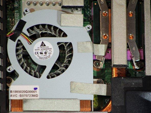 Gateway W350I Heatsink Fan Replacement