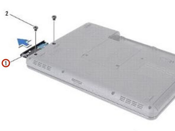 Slide the hard-drive assembly into the hard-drive compartment until it is fully seated.