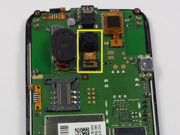 See yellow square for the location of the camera on the mother board.