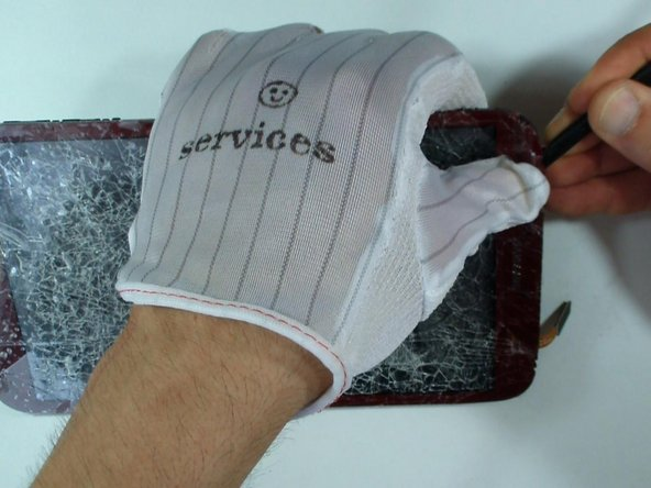 Use a gloves to avoid any injurys from glass.