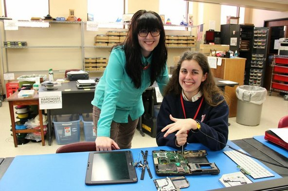 Student-run technology repair center at St. Joseph's Academy