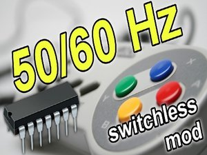 Super Nintendo 50/60 Hz Switchless Mod + LED Mod