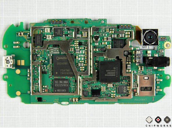 Microsoft Kin Two logic board during teardown
