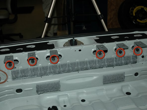 3. Installation of the rear plate