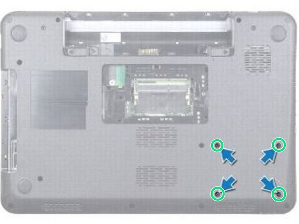 Remove the four screws that secure the hard-drive assembly.