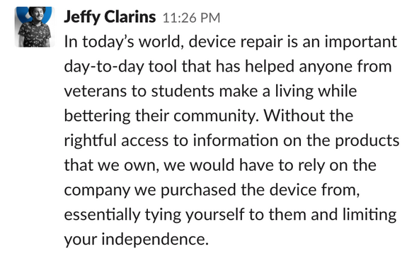 Jeffy Clarins of iFixit on what ownership means