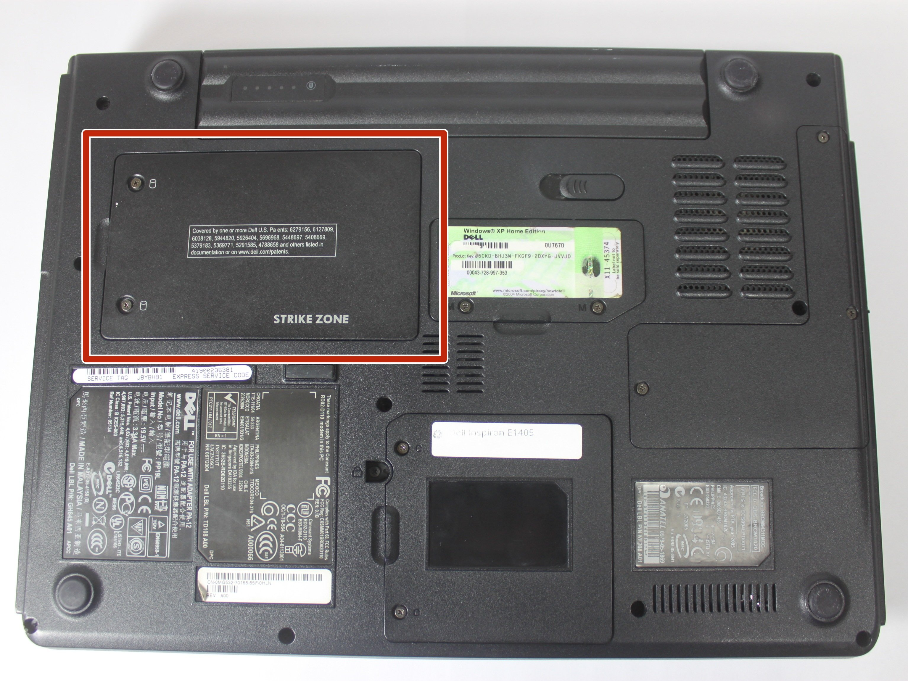 Dell Inspiron E1405 Hard Drive Replacement Ifixit Repair Guide