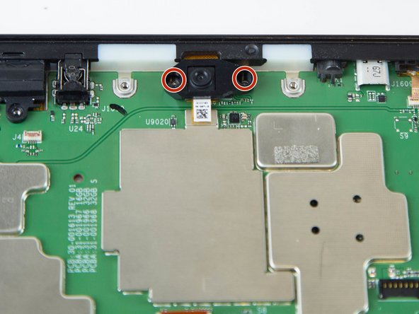 Remove the two screws from front facing camera using the T5 Torx Screwdriver.