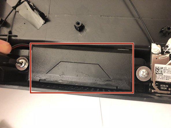 Start by locating speaker in bottom of back panel.